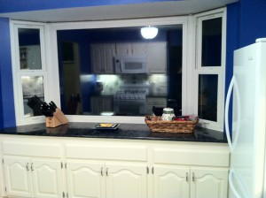 The countertops were raised a couple of inches to bring it up closer to regular counter height.